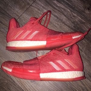 Adidas Red Sneakers Mens Sz 8